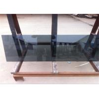 China Coated Reflective Float Glass Flat Shape Black Reflective Glass For Furniture / Wall wholesale