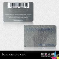China Library Thin Plastic Barcode Business Cards With QR Code Ean8 wholesale