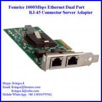 China 1000Mbps Dual Port RJ-45 Connector PCI Express x4 Server Adapter (Intel 82576 Chipset) wholesale