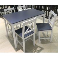 Buy cheap Simple Style Pine Wooden Dining Table Set with 4 Chairs from wholesalers