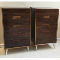 China Five-drawer storage cabinet, wood structure and steel supporting leg wholesale