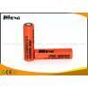 China IMR18650 1600mAh 3.7 lithium ion battery Orange Light weight Long cycle life wholesale