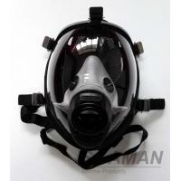 China Fire Fighting Silicone Full Face Gas Mask For Breathing Apparatus SCBA Face Mask wholesale