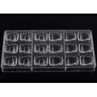 China Transparent Food Safe PP Plastic / Silicone Chocolate Molds 27.5*13.5*2.5cm wholesale