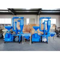 China 100 Mesh No Dust Plastic Recycling Equipment Compact Structure Overload Protection wholesale