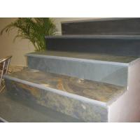 China Rusty Slate Steps Multicolor Slate Stairs with Natural Cleft Surface and Bullnose wholesale