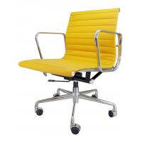 China Professional Yellow Leather Desk Chair , Ergonomic Executive Chair Non Folded on sale