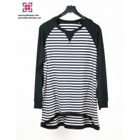 China Wholesale Custom Women French Terry Plus Size Stripe Sweater wholesale