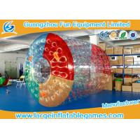 China PVC Inflatable Water Roller Ball Inflatable Hamster Wheel For Water Pool wholesale
