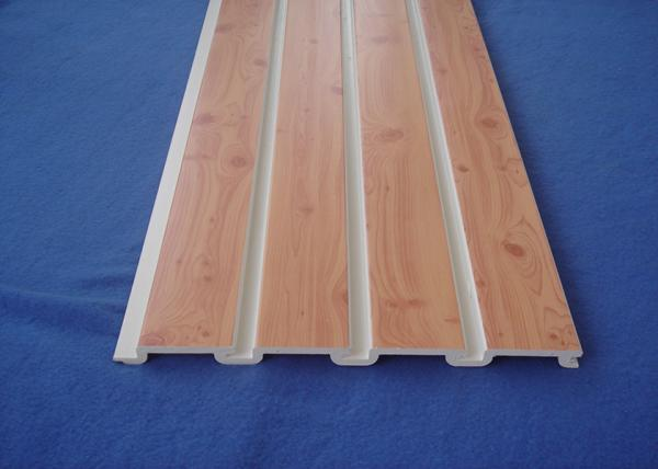 Quality Plastic Taupe Slat Wall Panels / WPC Slatted Wall Panels For Shelves for sale