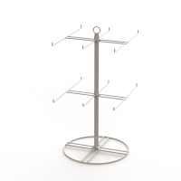 China Wire Hooks Spinner Grocery 12 Pegs Countertop Display Rack on sale