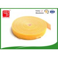 China Adjustable 25MM double sided hook and loop tape for fabric yellow hook and loop tape on sale