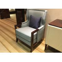 China Elegant Wooden Style Hotel Room Chairs High Density Foam Environment - Friendly wholesale
