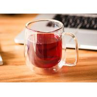 China Microwavable Double Wall Insulated Glasses , 250ml Espresso Double Wall Latte Mug wholesale