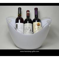4L or 8L colorful printed  plastic ice bucket for beer with handle wholesale