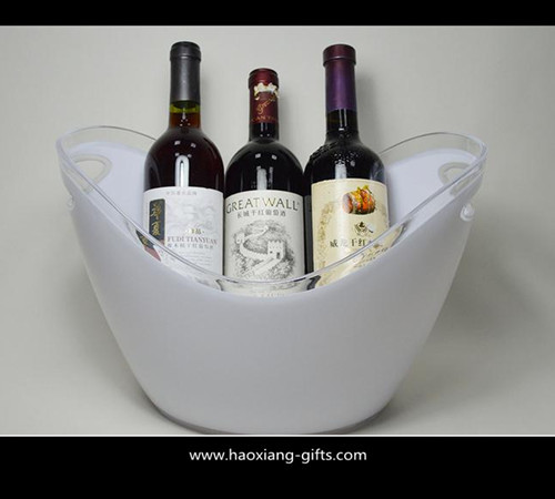 Quality 4L or 8L colorful printed  plastic ice bucket for beer with handle wholesale for sale