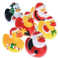 China 5.5cm Height Rubber Duck Christmas Decorations, Squeeze Floating Plastic Ducks wholesale