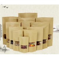 China Customized Zipper Kraft Paper Stand Up Pouch With Tear Notch Food Packaging wholesale