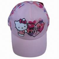China Hello kitty kids caps, 5-panel Structured Imprinting Children's carton Cap,caps for kids,baby sports hats(YC-Kids002) on sale