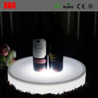 China Nightclub Bar use Color Changing Plastic LED Service Tray for Wine Bottle/Round Plastic Wine Bottle Tray/Led Tray wholesale