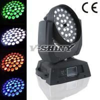 Buy cheap 18W x 36pcs Rgbwa Uv 6in1 Led Zoom Moving Head Wash Light  , Led Zoom Moving Head Light from wholesalers