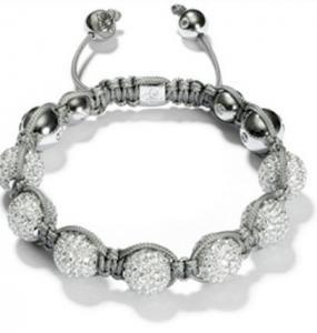 China 2012 new design white beaded crystal bracelets for men, women, unisex wholesale