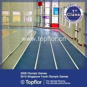 Indoor Rubber sports flooring for running track
