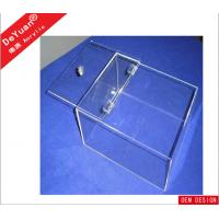 China 13 × 13 Inch Rectangle Acrylic Holder Stand Transparent For Preserved Fruit wholesale