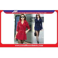 China Girls Woollen Blended Long Trench Jacket / Outerwear Jackets Red or Black wholesale