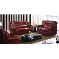 China luxury living room top leather sofa 1+2+3 brown genuine leather sofa set wholesale