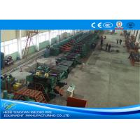 China Low Carbon Steel ERW Pipe Mill Making Machine Rectangular Pipe Shape wholesale