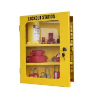 China Lockey Safety Management Lockout Station Wall Mounted Hardened Yellow Steel on sale