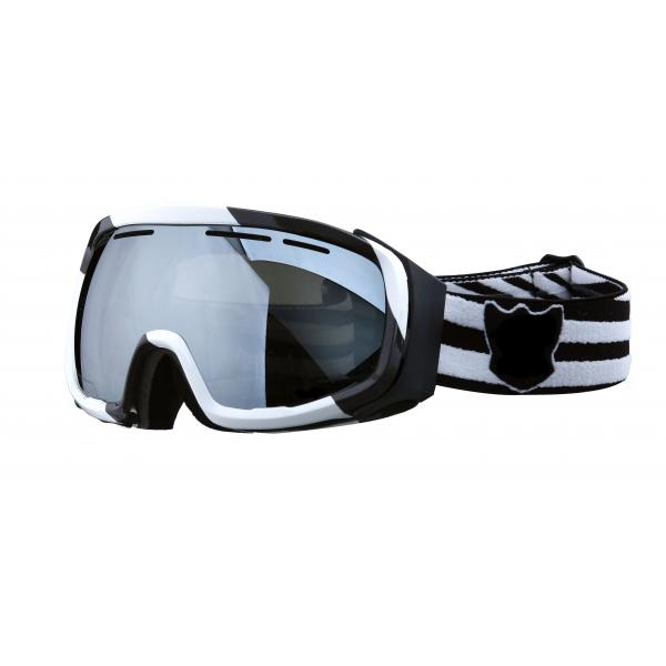 black snowboard goggles  orange,black
