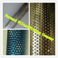 Buy cheap Colorful Decorative Perforated Metal Tube With Straight Weld / Round Shape from wholesalers