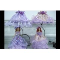 China Beautiful Porcelain Doll Victorian Table Lamps With Satin Ribbon on sale