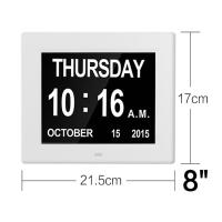 China 8Inch IPS 1024x768 Digita Calendar Day Clock Extra Large Impaired Vision wholesale