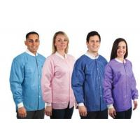 China Multicolour Disposable Nonwoven Lab Coats With Open / Elastic / Knitted Cuffs on sale