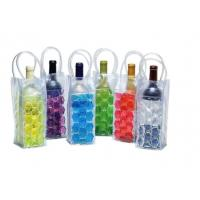 Buy cheap Recyclable Custom Ice Packs , PVC Wine Cooler Bag With Plastic Handle from wholesalers