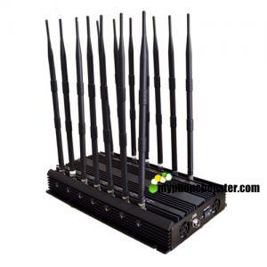 China 14 Channels 35W High Power Adjust GPS Signal Jammer Blocker Shield CDMA GSM DCS 3G 4G LTE Wifi GPS L1 L2 L3 L4 L5 wholesale