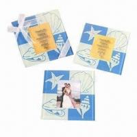 China Glass Coasters with Customized Logo, (Cork Coasters Also Available) wholesale