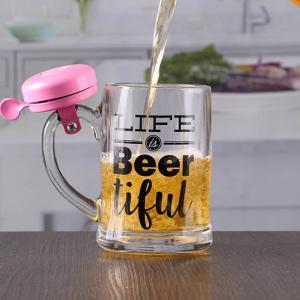 China 12 oz craft beer mug with bell customizable printing logo on sale