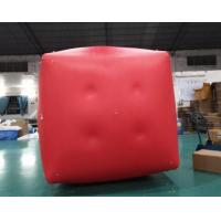 China Military Inflatable Floating Buoys Gunnery Practice Square Red Inflatable Swim Buoys wholesale