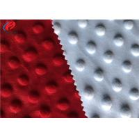 China 100% Polyester Minky Plush Fabric Embossed Soft Minky Dot Fabric For Baby wholesale