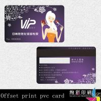 China CMYK PVC Magnetic Stripe Cards Offset Printing With Signature Panel wholesale