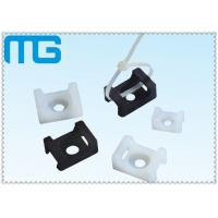 Buy cheap white /balck Saddle Type tie mounts with material of PA66, CE approval ,1000PCS /BAG Cable Accessories from wholesalers