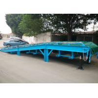 China Steel Mesh Seperated Forklift Mobile Yard Ramp , Portable Dock Ramps wholesale