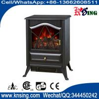 resin logset electric fireplace heater log burning flame effect antique electric stove ND-18D2P cheap space heater