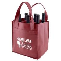 China Custom Promotional wine shopping tote fabric polypropylene laminated non woven bag, Manufacturer of pp lamination non wo wholesale