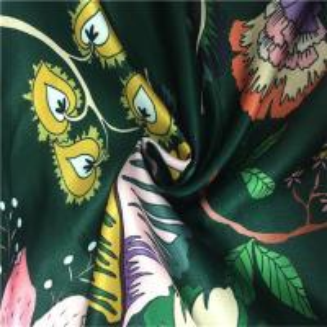 China 50dx150d Yarn Count Fashion Print Fabric False Twisting Satin Soft Hand Feeling wholesale