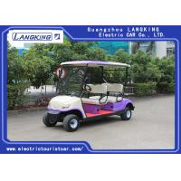 China Sponge + Artificial Leather Seats Electric Golf Carts / 4 Passenger Golf Cart With Roof wholesale